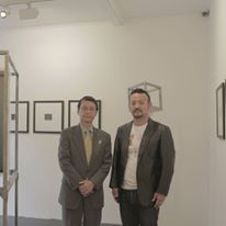 林 景一英国駐箚特命全権大使(ロンドンでの個展会場にて)With Keiichi Hayashi  the Japanese ambassador to the United Kingdom.