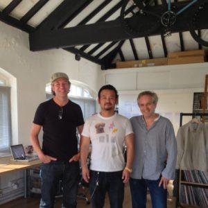 With an artist Michael Horsham & Simon Taylor(TOMATO U.K)