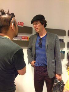With Benedict Cumberbatch.ベネディクト・カンバーバッチさんと。
